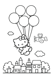 g pages free balloon hello kitty with balloons page kids coloring nightmare boy printable hot air balloon coloring pages preschool