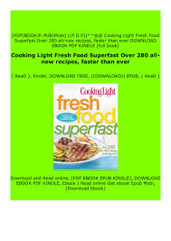 Cooking Light Online Recipes Read_epub Cooking Light Fresh Food Superfast Over 280