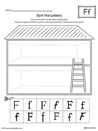 Sort the Upper and Lowercase Letter F Worksheet