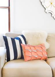 diy structured pleat lumbar pillow