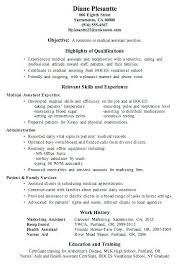 Medical Assistant Resume Objective Beauteous Medical Assistants Resume Samples Of Medical Assistant Resumes With