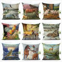 decorative office supplies. Wholesale Wholesale Decorative Office Supplies For Sale - Countryside  Animal Decorative Throw Pillows Office Man Woman