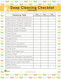 cleaning schedule printable printable kitchen cleaning checklist planners cleaning