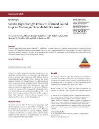 Pdf Sientra High Strength Cohesive Textured Round Implant