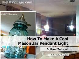 how to make a cool mason jar pendant light mason jar pendant light by thediyvillage com