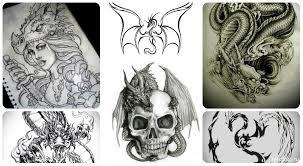 тату дракона эскизы и картинки с драконами