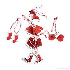 12 Rot Weiß Weihnachtsanhänger Santa Weihnachtsmann Nikolaus
