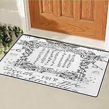 Carpet Quality Chart Amazon Com Occult Front Door Mat Carpet Gothic Medieval