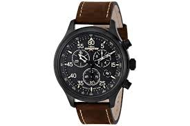 7 most popular timex watches under £100 for men best selling timex expedition men s quartz watch brown dial chronograph display and brown leather strap t49905