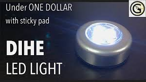 <b>DIHE Sticky</b> LED Spot light under ONE DOLLAR - YouTube
