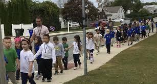 Fall River students turn out in droves for International Walk to School Day