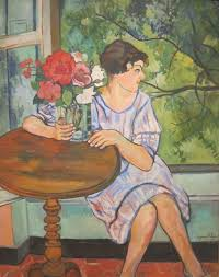 file young girl in front of a window by suzanne valadon san go museum of art jpg