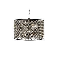 cassiel black drum crystal chandelier free today 16903647