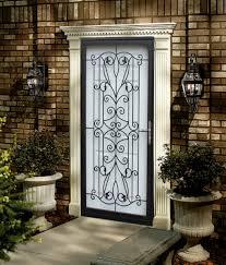 black metal screen doors. Wonderful Black Metal Screen Doors And Storm Door Hand Painted Curtains Snapshot Of Throughout R