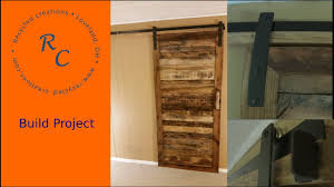 Up-Cycled Pallet wood Sliding Barn Door - YouTube