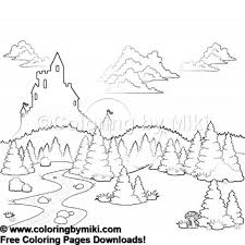 Nature Landscape Coloring Page 1186 Ultimate Coloring Pages