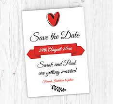 Red Save The Date Cards Red And Black Save The Date Cards