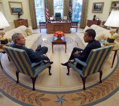 president george w bush meets with president elect barack obama in the oval office barak obama oval office golds