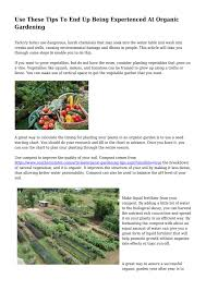 Vegetable Garden Fertilizer Chart Use These Tips To End Up Being Experienced At Organic