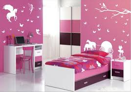 interesting bedroom with walls framed pictures girl and boy bathroom decor red stained wooden single bed wonderful decorations cool kids desk e58 cool