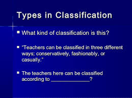 classification essay types in classification