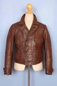 vintage 1930s german french leather cyclist motorcycle flight jacket luftwaffe