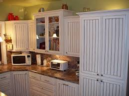 Wallpaper For Kitchen Cabinets White Beadboard Kitchen Cabinets