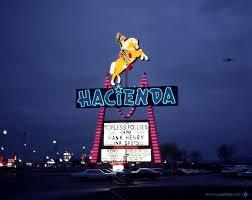 Hacienda Las Vegas December 1970 Horse Rider Sign By