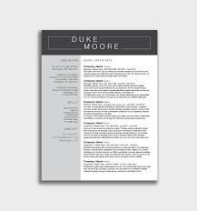 Modern Resume Template Word Fresh Design Free Modern Resume