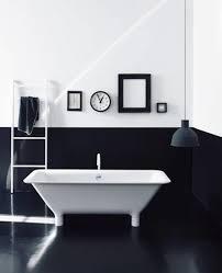 bathroom: Elegant Black White Bathroom Interior with Glossy Looks ...