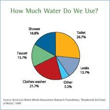 Water Usage Chart For Household Pie Chart Showing Indoor Water Usage Shower 16 8 Toilet