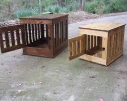 Pet Houses   EtsyDog Crate End Table  Wooden Dog Kennel  Indoor Wood Dog House