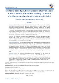 Medical Certificate For Illness Pdf Mental Disability A Retrospective Study Of Socio