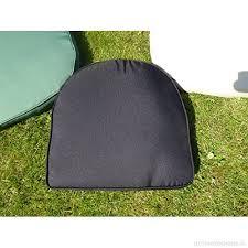uk gardens black garden furniture chair cushion seat pad round back ideal for plastic garden chairs removable cover double piped indoor or outdoor