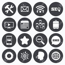 Wifiカレンダーや携帯電話の支払いインターネットseo アイコン修理データベースおよび星印メール