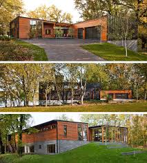 modern home architecture stone. This Modern House Covered In Wood, Metal And Stone, Has Floor-to- Home Architecture Stone R