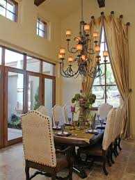 formal dining room window treatments. example of a tuscan dining room design in sacramento with beige walls formal window treatments t