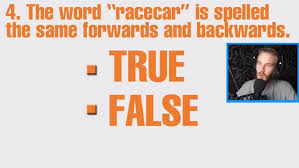 Yarn The Word Racecar Is Spelled The Forwards And