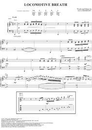 locomotive breath piano sheet music locomotive breath with tab staff sheet music for piano and more