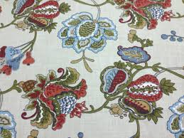 Small Picture Terra Cotta Jacobean Fabric Upholstery Fabric By The Yard Home