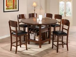 neoteric design inspiration round wood dining table set 2