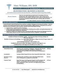 nursing grad resumes