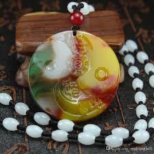 whole xinjiang en blood gossip pendant light gold silk jade yin and yang gossip pendant brand jade necklace diamond necklace necklaces for women