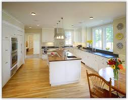 white kitchen dark wood floor. Kitchen Cabinets Oak Wood Floors. White Dark Floor K