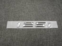 Chrome <b>Shiny Silver ABS Number</b> Letters Word Car Trunk Badge ...
