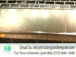 how to fix chip in granite edge quartz repair marble floor polishing kit ch countertop