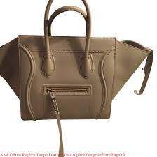 aaa céline replica taupe leather tote replica designer handbags uk