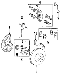 Genuine lexus brake pads lex 0446550240