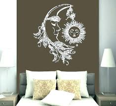 sun and moon wall decorations decor yoga decal stars night metal half painted me mexican meta