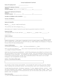 Nanny Contract Template Nanny Agreement Template Nanny